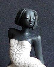 Raku Figuren von Margit Hohenberger, Keramik Künstlerin aus Hof in Oberfranken
