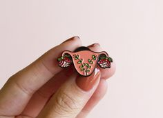Blooming Uterus Enamel Pin