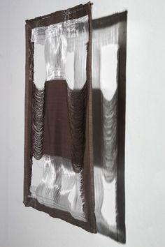 Liliya Sotirova | Lines in Space | Jacquard weave, monofilament, cotton thread