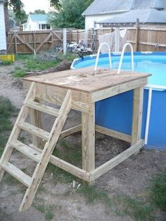 Deck Above Ground Pool Diy.Above Ground Pools Decks Idea Above Ground Pool Deck . Above Ground Pools With Decks Dallas Tx Design Idea Wood . 7 Reasons To Choose An Above Ground Pool . Swimming Pool Ladders, Swimming Pool Decks, Above Ground Swimming Pools, Swimming Pool Designs, In Ground Pools, Oberirdische Pools, Cool Pools, Lap Pools, Indoor Pools