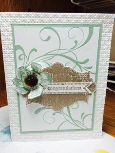 New Stampin Up! 2015-16 Colours- Mint Macaron, Tip Top Taupe with Everything Eleanor and Bitty Banners on Whisper White. Erin Dallyn
