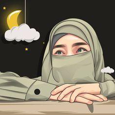Hijab Drawing, Islamic Cartoon, Anime Muslim, Girly M, Hijab Cartoon, Islamic Girl, Islamic Wallpaper, Arabic Art, Cute Relationship Goals