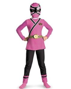 Pink Ranger Samurai Classic Costume.  $16.40 - $49.90            Released in 2011, the latest Power Ranger Halloween costume for girls is this Girl's Classic Pink Power Ranger Samurai Costume. It features a one piece jumpsuit that looks like a pink tunic with black pants. The jumpsuit has a detachable gold belt and the costume includes ...