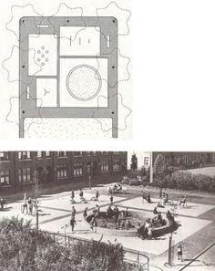 Aldo Van Eyck, School Play, Outdoor Classroom, Find Picture, Kid Spaces, Urban Design, Landscape Architecture, Location History, Facade