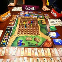 Any try the 6 player game of Scoville? Epic!! @Repost from @boardgamehunter - epic 6-player game of #scoville in progress #bgg #boardgamehunter #boardgamegeek #tabletop #boardgames #gamenight #analoggames #playtmg #Repost
