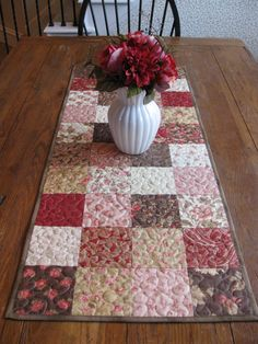 Quilted table runner. Love it
