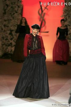 Ysl, Ballet Russe, Tambour Beading, Rive Gauche, Yves Saint Laurent, Bohemian, Gowns, Collection, House Styles