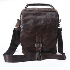 New High Quality Vintage Casual Genuine Leather Cowhide Men Small Handbag Handbags Shoulder Bag Messenger Bag Bags For Man Ipad Bag, Leather Backpack, Leather Bags, Small Handbags, Casual Bags, Luggage Bags, Shoulder Bag, Vintage Bag, Messenger Bags