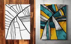 作画は3歳の息子、着色は父。親子愛と想像力に満ち溢れた素晴らしい抽象的絵画