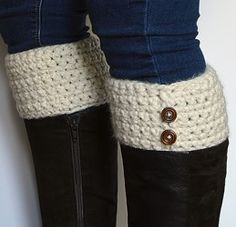 Simple Crocheted Boot Cuffs
