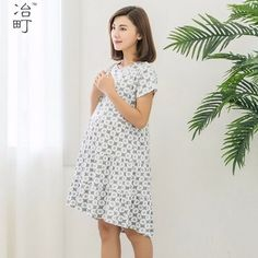 9d3c3c2e258 Wholesale nursing clothes floral maternity dress Pregnancy Outfits