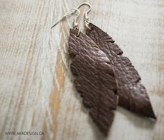 DIY leather earrings from MichaelsMakers AKA Design