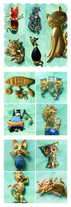 When cats and jewelry combine, it's a beautiful thing.