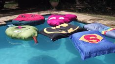 Our FUNfloats are sturdy and hardy and are made from UV resistant fabric that WILL NOT puncture like your inflatables. Pool Pillow, Outdoor Events, Outdoor Decor, Pool Furniture, Business For Kids, Beach Party, Sleepover, Kids Playing, Chill