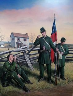 The Clinch Rifles Painting  - The Clinch Rifles Fine Art Print