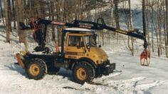 Case unimog with logging loader