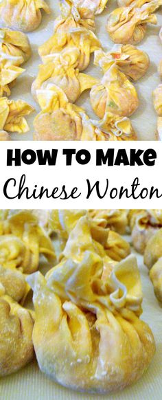 Make your very own Chinese Wonton, better than the restaurants for sure! Easy step by Step instructions and great recipe for the filling too!