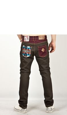 Bottoms - Funky Multi-Contrast Accent Sticker Patchwork Slim Pants - 51 for only 45.00 !!!