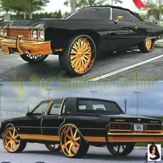 That black on Gold is too playa! Custom Muscle Cars, Chevy Muscle Cars, Custom Cars, Custom Trucks, Mustang Cabrio, Ford Mustang, Plymouth Road Runner, Chevy Caprice Classic, Chevrolet Caprice