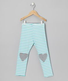 These lovable leggings combine comfort with fun for any little lady. With features like soft, stretchy fabric, a convenient elastic waistband and darling heart-shaped knee patches, these bottoms are perfect for playtime. 95% cotton / 5% spandexMachine wash; tumble dryMade in the USA