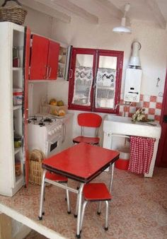 miniature vintage kitchen