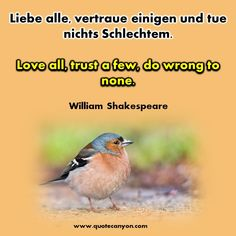 German To English Most Inspiring Famous Quotes of All Time - Life Quotes In English, German Quotes, William Shakespeare, Cool German Words, Back To School Poem, German Language Learning, Learning Spanish, Poems About School, Trust
