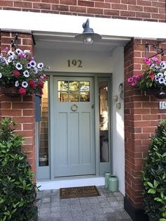 Ideas for red front door brick Ideas for red front door brick house house trendy exterior door brick trendy exterior door brick house house exterior Awesome Front Door Colors and Grey Front Doors, Front Door Porch, Exterior Front Doors, House Front Door, Painted Front Doors, House Doors, The Doors, Garage Doors, House Shutters