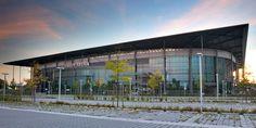 wolfsburg | Die Volkswagen Arena in einer Außenaufnahme aus Richtung Autostadt ...