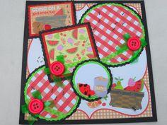 Summer Backyard BBQ Cookout Picnic Food by kariskraftkorner3301, $9.99
