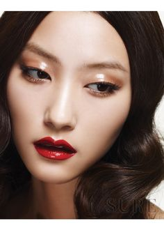 Makeup Ideas: creating dimension on a monolid using deft contour and highlight. (may be a repi