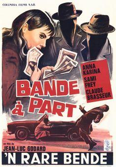 Band of Outsiders (1964), Dir. Jean-Luc Godard, Belgian Poster