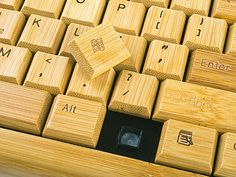 Bamboo Handcrafted Keyboard ($53.28)