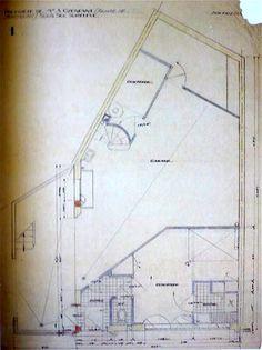 Le Corbusier. Maison Ozenfant. Avenue Reille. Paris, France. 1922. Planta 1