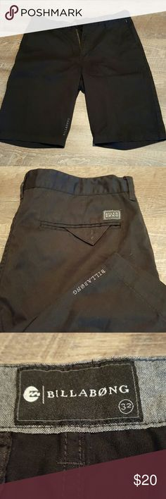 Men's Billabong Black Shorts Sz 32 Like new men's shorts. Perfect condition.  65 % polyester, 35% cotton. No tears or fading. Front and back pockets.   Nonsmoking home. All reasonable offers accepted. Bundle discount available. Billabong Shorts