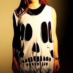 Pin for Later: DIY: Cool Skull Tee