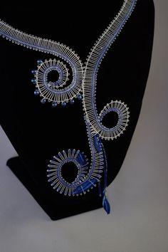 Waves Bobbin Lace Necklace by JanaCraftyShop on Etsy