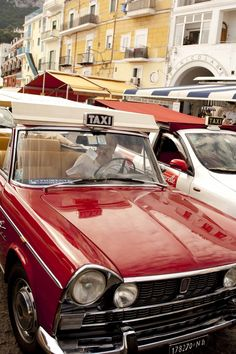 When The Moon Hits The Sky Like Pizza Pie. Call a Taxi! Capri Classic Taxi , Italy - can still see my mums joy at being chauffeur driven around Capri! Italian Romance, Beach Cars, Destinations, Villa, Amalfi Coast, Italy Travel, Cumbria, Places To Go, Europe