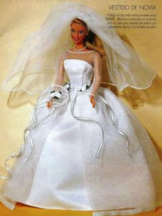 Free scanned Barbie dress patterns - wedding, party...