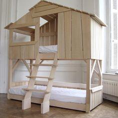 KIDS TREEHOUSE BEDROOM BUNKBED in Natural Pine & MDF