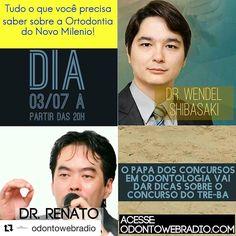 Será um prazer conversar e participar do mais democrático espaço do dentista brasileiro. Uma rádio web based. Basta digitar o endereço e escutar uma rádio completa dedicada ao dentista: música entrevistas promoções etc. tudo que o dentista gosta. Obrigado pelo convite meus amigos Márcio Bove Mário Bove e Léo Sampaio! http://ift.tt/2thz45u #Repost @odontowebradio (@get_repost)  @wendelshibasaki e @odontologiaconcursos Renato Uetanabara são nossos entrevistados no ODONTO OUTBOX nesta segunda…