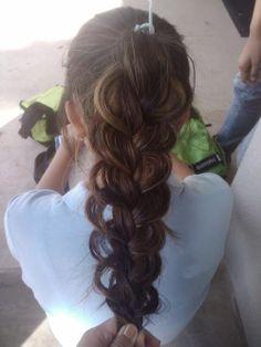 great big braid.