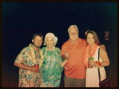 Family at Brett and Brandi's shower on Colonel's Island - July 2014