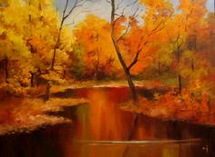 Nel's Everyday Painting: Autumn Landscape Demo - SOLD