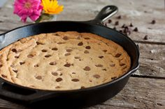 Skillet Chocolate Chip Cookie - Cooking Classy