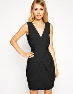 ASOS - Mini robe portefeuille coupe tulipe avec ceinture élastique