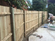 Featheredge fencing completed in West Sussex