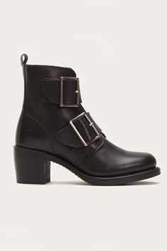 9904136113dc The sleek silhouette bodes well with the chunky buckles. Frye Sabrina  Double Buckle