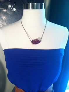 Bad to the Stone Necklace in Maroon by DistractedRenegade on Etsy, $14.00