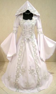 SILVER MEDIEVAL WEDDING DRESS VICTORIAN GOTH S-M 10-12-14 QUEEN RENAISSANCE ROBE   eBay