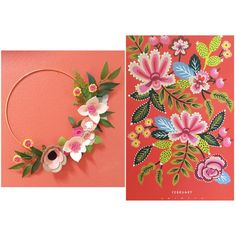 Rifle Paper Co Inspired Wreath Wreaths Flower by alisonmichel